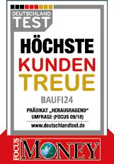 Baufi24 - höchste Kundenzufriedenheit laut Focus